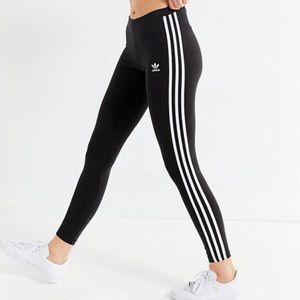 NWT Adidas Original Three Stripe Black Leggings M